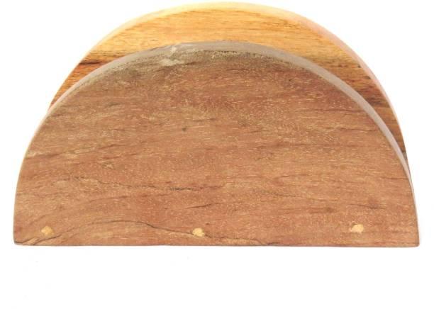 Scrapshala 1 Compartments Wooden half moon pinewood tissue holder