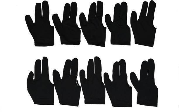 Laxmi Ganesh Billiard 1170 10x Black 3 finger Billiards Snooker and Pool Gloves Snooker, Pool, Billiards Cue Stick