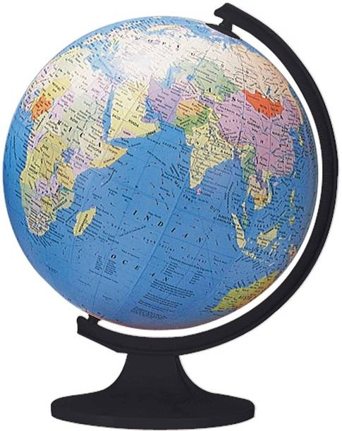 Globes buy globes online at best prices in india flipkart shrih globe world political map desk and table top political world map world globe gumiabroncs Choice Image