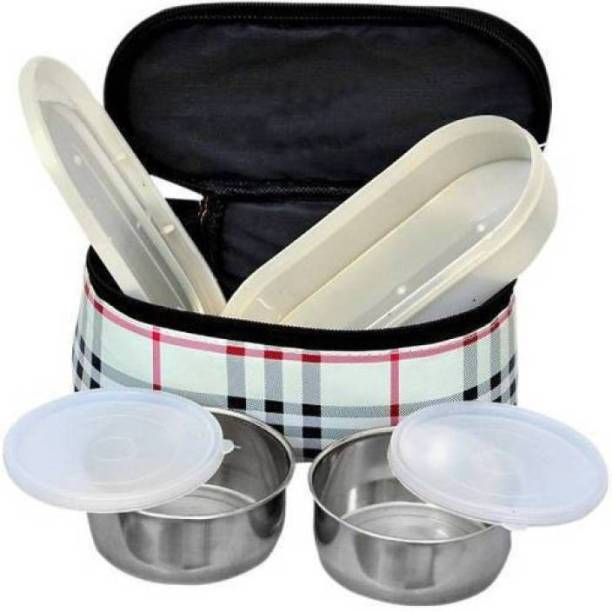 onlinedeals Lunch Box Material: Stainless Steel, Plastic 3 Containers Lunch Box