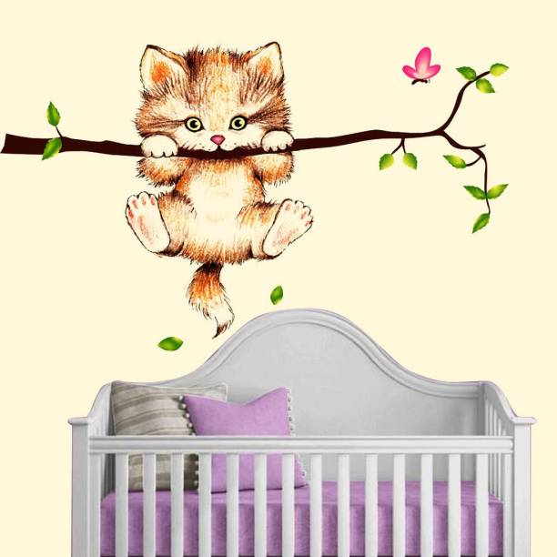 walkart Medium wallstickers (4600) angry cat jumping in a branch