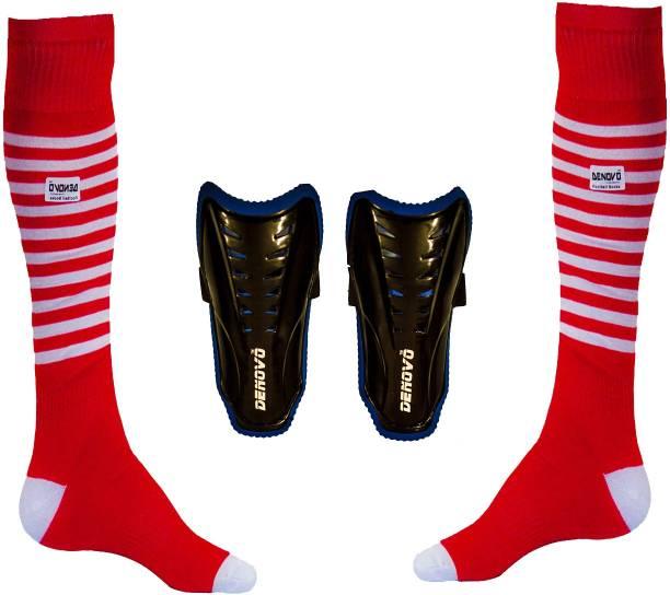 5ee71ab72aa DeNovo Justry Football Kit (One Pair Lycra Striped Knee Length Football  Socks + One Pair