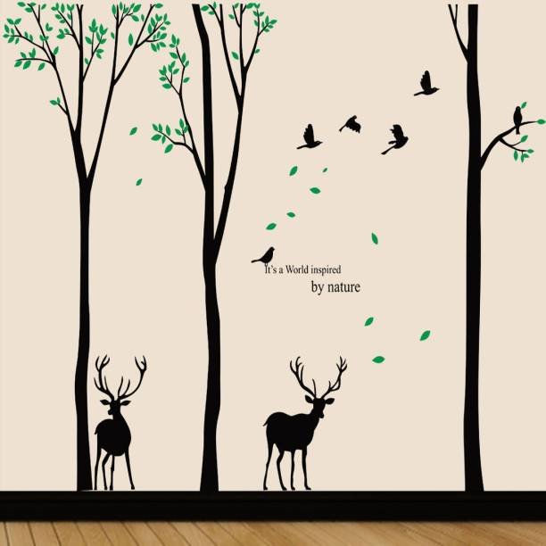 walkart Extra Large wallstickers (9651) tree with deer and birds