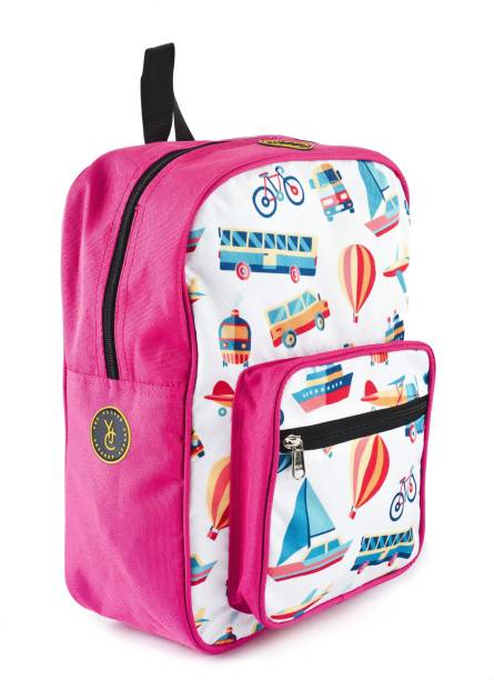 edb4b6cdec3 The Yellow Jersey Company Travel Theme Pink School Bag for  Pre-School Nursery