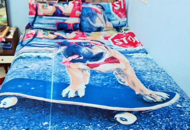 Maheshwari Handloom 200 TC Cotton Single Cartoon Bedsheet