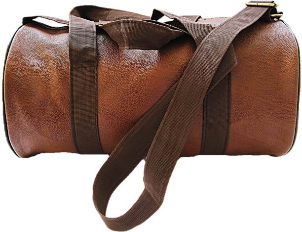 Muccasacra Weekender Duffel Gym Bag With 3 Compartments Scrubbed Dark Brown