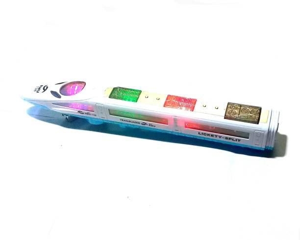 OM Go High Speed Bullet Train Toy 3D Lighting And Musical Fun Sounds Toy for kids Birthday gift - 38/7 cm
