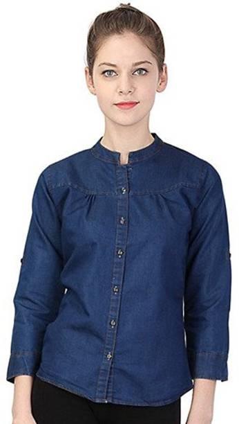 ca2f65d9b4 Womens Denim Shirts - Buy Denim Shirts For Women Online at Best ...