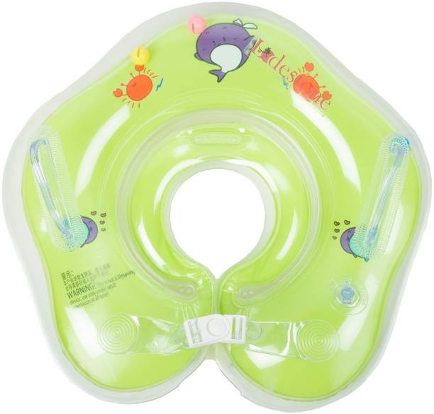 P s retail Swimming Neck Float Ring for Baby (Green) Bath Toy