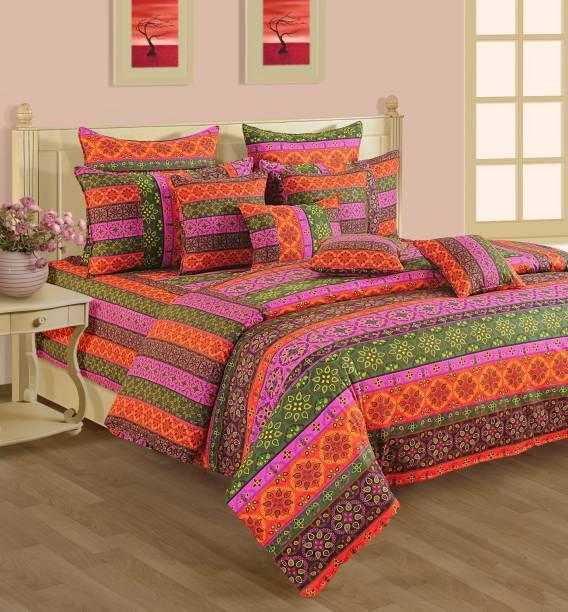SWAYAM 240 TC Cotton Single Motifs Bedsheet