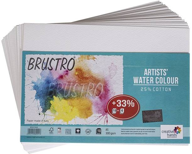 BRuSTRO Super Series Unruled A5 300 Watercolor Paper