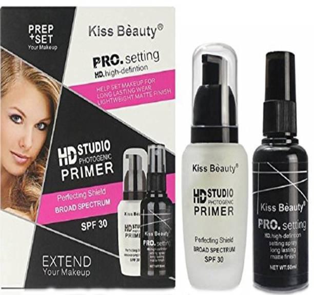 Kiss Beauty Combo of Makeup Fixer & Primer (Set of 2) Primer  - 100 ml