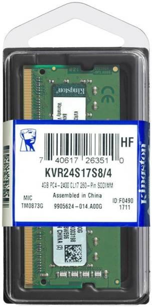 KINGSTON ValueRAM DDR4 4 GB (Single Channel) Laptop (KVR24S17S8/4)