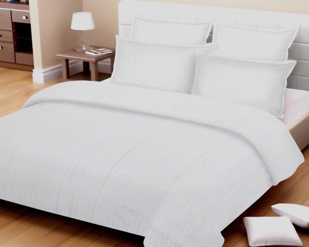 Cannon By Big Bazaar 148 TC Cotton Double Self Design Bedsheet