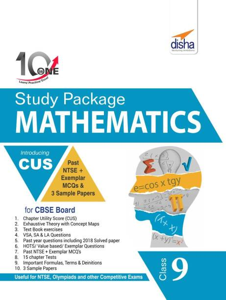 10 in One Study Package for CBSE Mathematics Class 9 with 3 Sample Papers