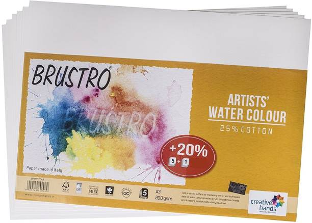 BRuSTRO Super Series Unruled A3 200 gsm Watercolor Paper