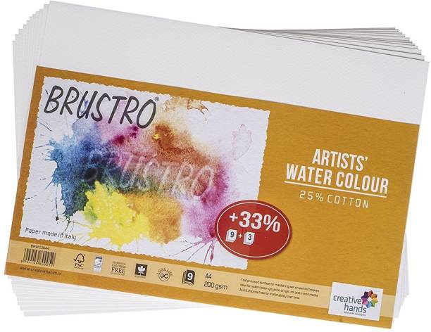 BRuSTRO Super Series Unruled A4 200 gsm Watercolor Paper
