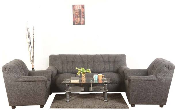 Roman Living Hastings Fabric 3 1 Grey Sofa Set