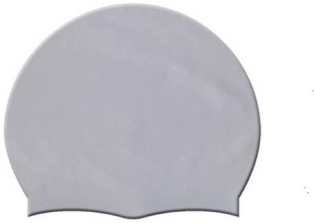 Leosportz Unisex-Kids & Adults Adjustable Plain Flat Silicone Swimming Cap Swimming Cap