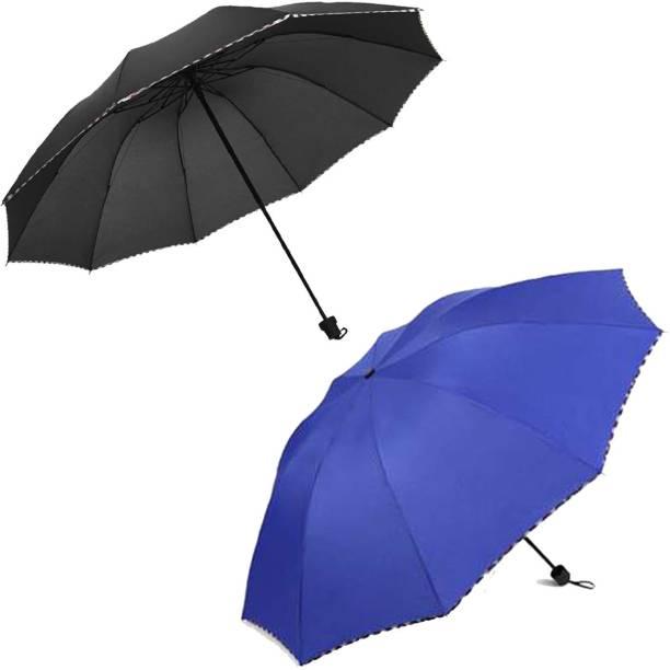 KEKEMI 3 Fold Plain10 Umbrella