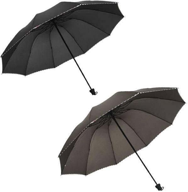 KEKEMI 3 Fold Plain9 Umbrella