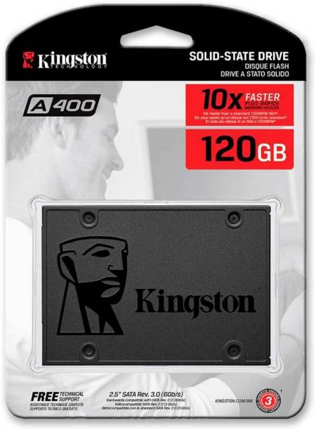 KINGSTON A400 120 GB Desktop, Laptop, All in One PC's, Servers Internal Solid State Drive (SA400S37/120G)