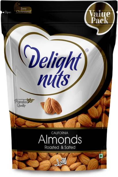 Delight nuts California Almonds (Roasted & Salted)- 750gm (Value Pack) Almonds