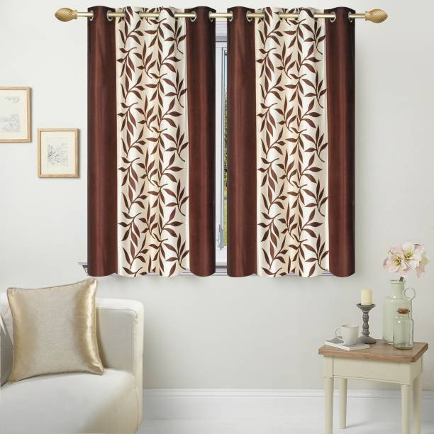 New Trends 152 Cm 5 Ft Polyester Window Curtain Pack Of 2