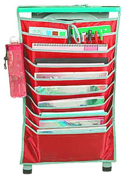 Magnusdeal Magazine table organizer with pen holder.New Adjustable Desk Book Organizer Bag For Desk Width Useful Books Storage Bag Efficient School Bookend Rack Multifunctional Desk Book Organizer Bag Hanging Reading Learning Books Files Storage Bag SIZE : 42x2x61 Cm (1 Pcs ) Assorted color Wall Hanging Magazine Holder
