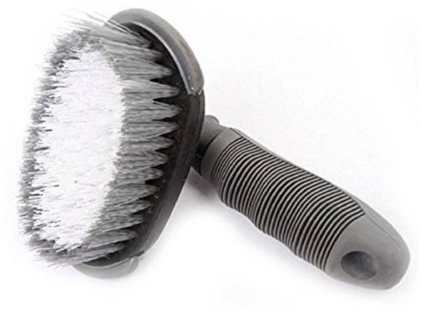 nikavi Car Wheel Tire Rim Scrub Brush Hub Clean Wash Useful Brush Car Truck Motorcycle Bike Washing Cleaning Tool Vehicle Tool Kit