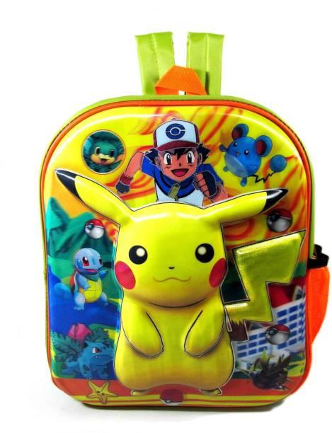 ehuntz Pokemon 5D embossed (Pre Nursery & Nursery) school Bag (EH1044) Waterproof Backpack