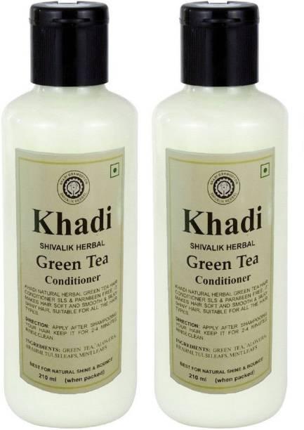 Khadi Herbal Green Tea Hair Conditioner (Twin Pack)