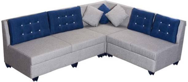 Bharat Lifestyle Parker Fabric 6 Seater  Sofa
