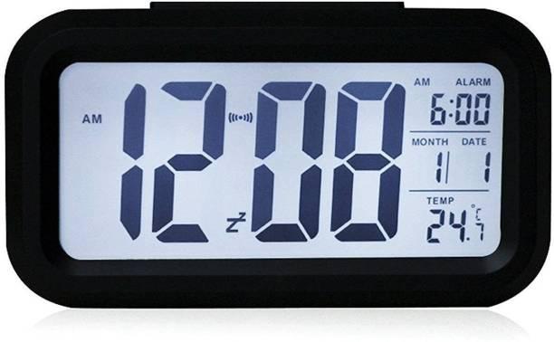 63ee492710b Tuelip Digital Nightlights Temperature Battery Operated Optically  Controlled Liquid Crystal Alarm (Black) Clock