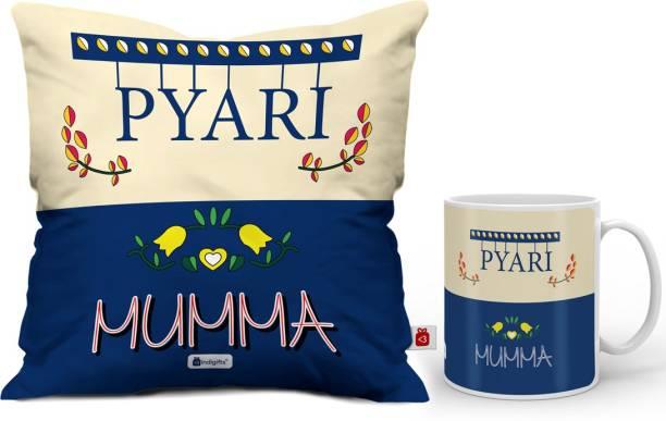Indigifts Cushion Mug Gift Set