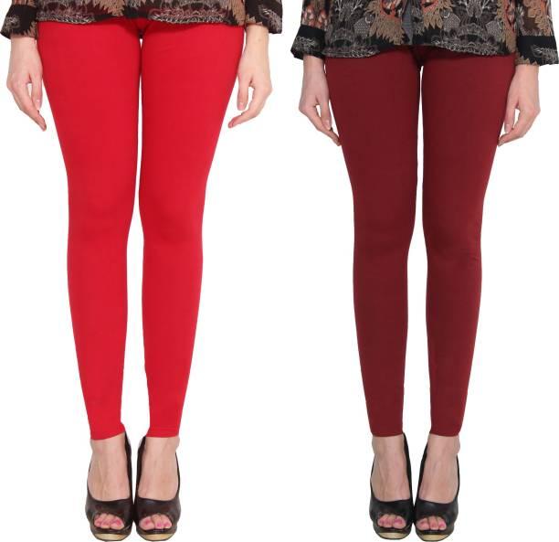 145c8ec49a51d Maroon Leggings - Buy Maroon Leggings Online at Best Prices In India ...