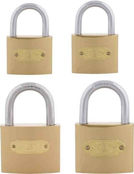 Standard Choice Steel Hardened Locks (Pack of 4) Padlock