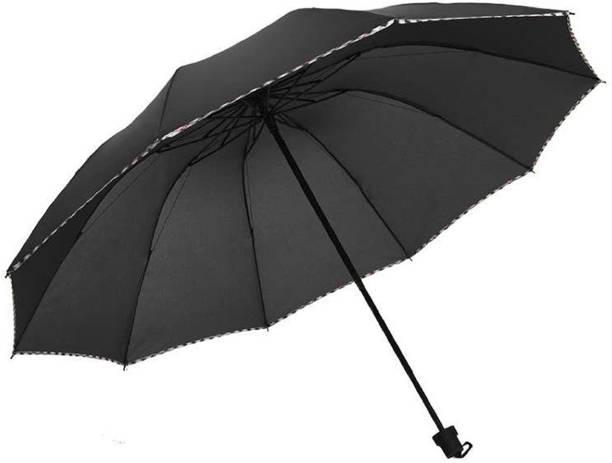 KEKEMI 3 Folds Plain Umbrella