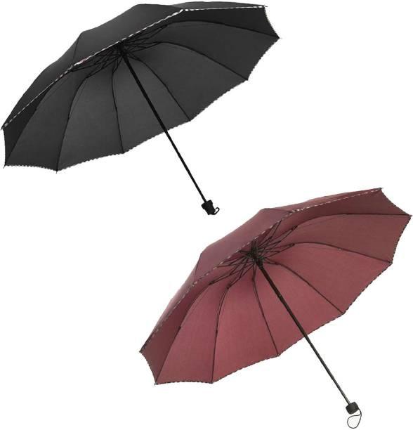 KEKEMI 3 Fold Plain8 Umbrella