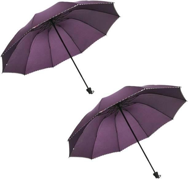 KEKEMI 3 Fold Plain3 Umbrella