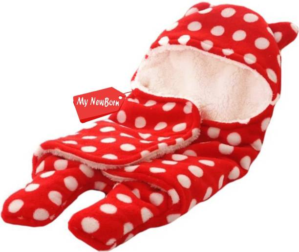 My New Born Printed, Polka Single Crib Baby Blanket