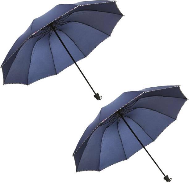 KEKEMI 3 Fold Plain5 Umbrella