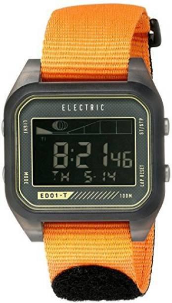 ea9451448 Electric grey10839 Electric Unisex EW0120020071 Digital Sport Watch with  Orange Band Watch - For Men