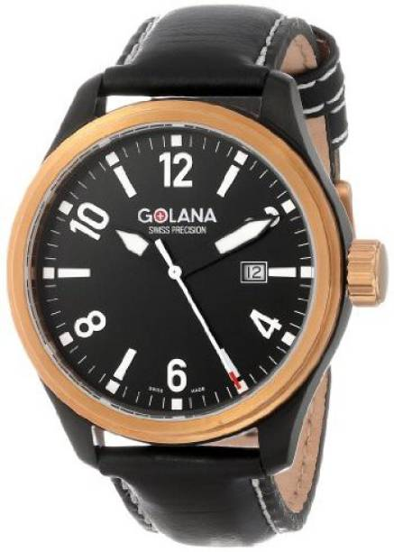 d533337a6 Golana Swiss Black 1752 Golana Swiss Men's AE200-1 Aero Pro 200 Analog  Quartz Chronograph