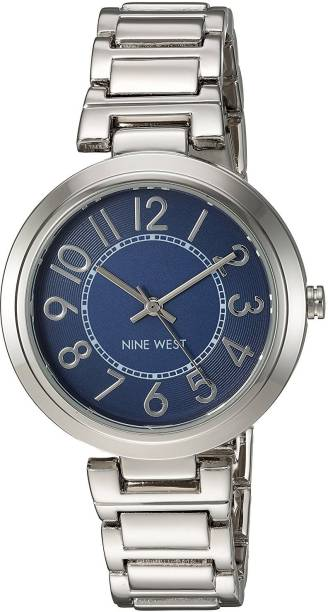 Nine West Blue25053 Nine West Women s NW 1893BLSB Easy To Read Dial  Silver-Tone 7e4414c736