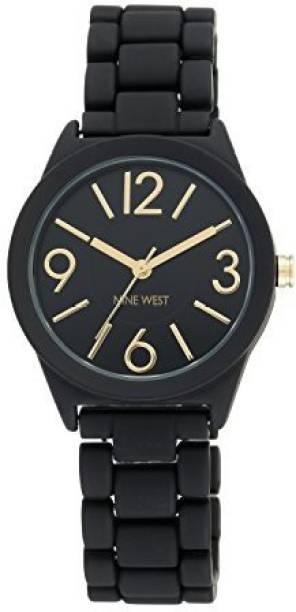 Nine West black21831 Nine West Women s NW 1812BKBK Matte Black Rubberized Bracelet  Watch Watch - a6a7842678