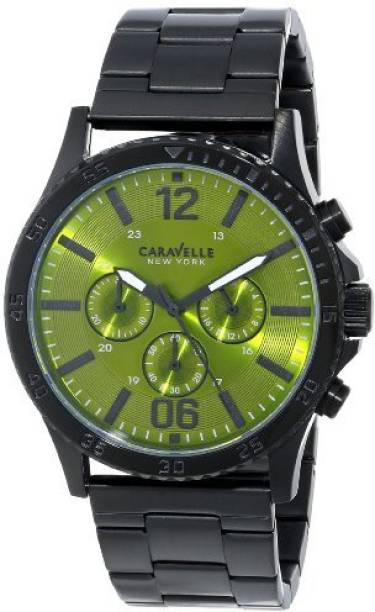 faca55d41 Bulova green11148 Caravelle New York Men's 45A107 Analog Display Japanese  Quartz Black Watch Watch - For