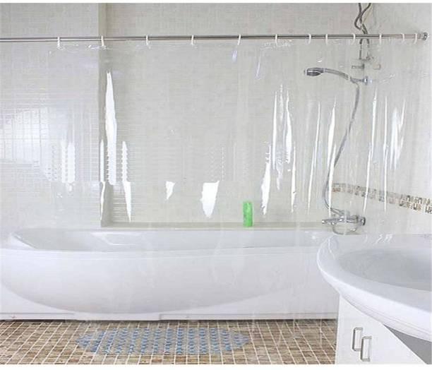 Khushi Creation 82 Cm 3 Ft PVC Shower Curtain Pack Of 2