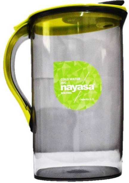 NAYASA 2100 L Water SAPARA GLASS PLASTIC WATER JUG SET OF 1 YELLOW Jug