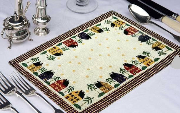 Galaxy Home Decor White Organic Cotton Table Linen Set